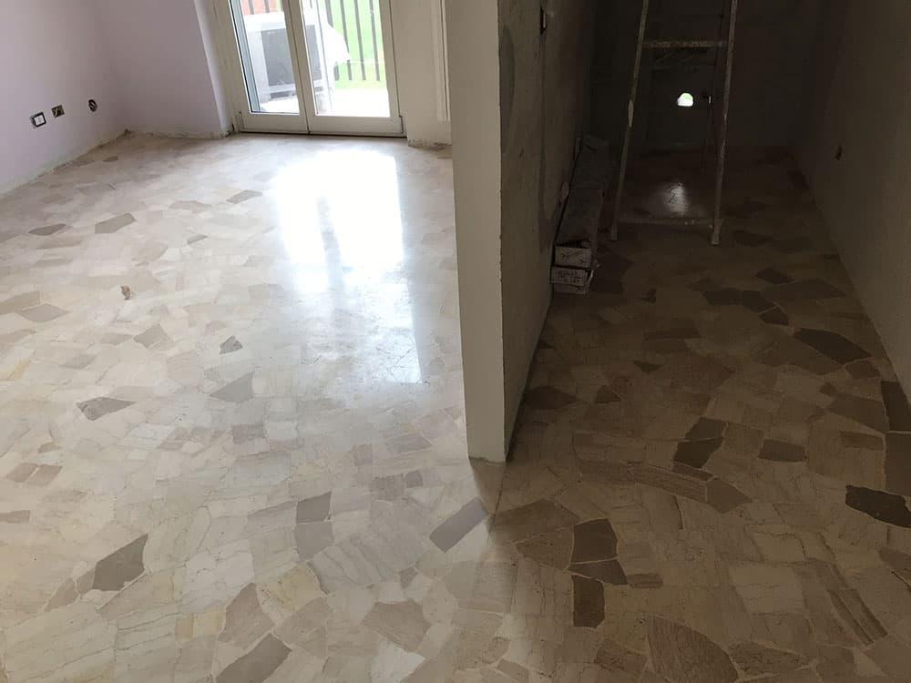 pavimento in marmo da lucidare